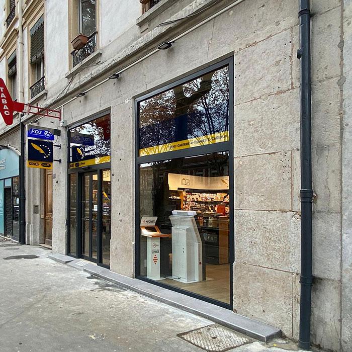 Tertiaire-Lyon-Bureau Tabac-Rénovation-énergie-patrimoine-Façade rénovée