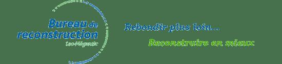 Recherche-Lac Mégantic-Catastrophe-post urgence-Logo bureau de la reconstruction